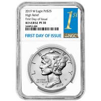 2019-W Reverse Proof $25 American Palladium Eagle 1oz. NGC PF70 FDI First Label