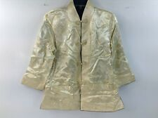 Tang Suit Top Gold by Silver Lake Jacket China Silk Size Med Long Sleeve Traditi