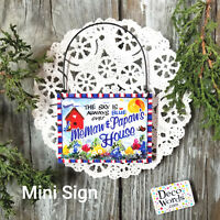 MEMAW PAPAW * Gift Mini Sign / Ornament We have ALL RELATIVES USA DecoWords USA