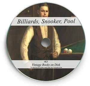 41 RARE BILLIARDS BOOKS ON DVD - SNOOKER POOL CUE TABLE TIPS SHOTS BALL LEARN K5