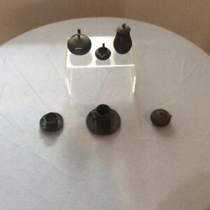 Wedgwood Black Basalt miniature EIGHT piece tea set