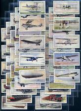 Wills Zigarette Karte Set - Speed (Titel in Weiß ) 1930 - Blau Vogel,Golden