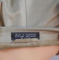 Palo Savino Mens 44 L Beige Sport Coat Blazer Long Jacket 2 Button Silk / Wool
