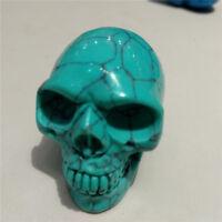 Green Turquoise Crystal  Skull Crystal Healing Display