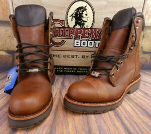 Chippewa Men's Country Tan Industrial Work Boot 25225 Waterproof Size 8.5 D