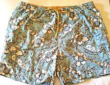 Tommy Bahama XL Mens Swim Trunks Shorts Blue Hawaiian Tropical Relax Floral Size