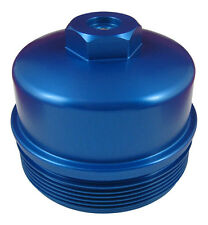 6.4L Powerstroke BLUE Billet Aluminum Secondary Fuel Filter Cap with Test Port