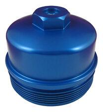 6.4L Powerstroke BLUE Billet Aluminum Secondary Fuel Filter Cap with Test Port