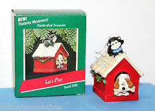 HALLMARK KEEPSAKE CHRISTMAS ORNAMENT - LET'S PLAY - PUP/KITTEN WIGGLE HEAD/TAIL
