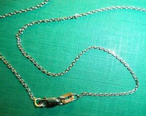 fine petite 14K white gold chain necklace