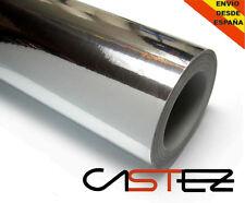 VINILO CROMADO PLATA 152x30 CM CHROME SILVER glossy vinyl libre aire air free