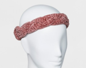Women's Chenille Braided Headband - Who What Wear- Pink OR Blue - NWT