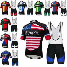 2020 Countries Team Cycling Jersey and Bib Shorts Men's Bike Clothing Set S-5Xl