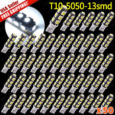 50X Super White T10 Camper 13-SMD 5050 Car LED Light Bulbs 12V - 194