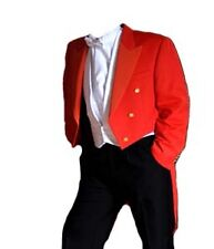 "Red Toastmaster Tailcoat - (Finest Barathea Wool) 44"" Regular"