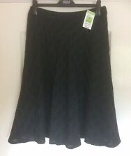 M&S Woman Size 12 Black Wool Mix Flared Skirt  NWT RRP £39.50 Autumn Winter
