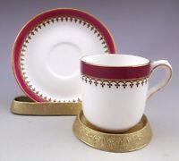 Antique Royal Worcester England Demitasse Cup  Saucer
