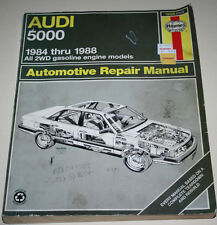 Reparaturanleitung Audi 100 / 5000 US-Version Typ 44, Baujahre 1984 - 1988