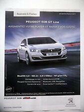 PUBLICITE-ADVERTISING :  PEUGEOT 508 GT Line  2015 Voitures