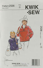 KwikSew Pattern #2537 Boys & Girls Vest & Jacket Size (4-5-6-7)