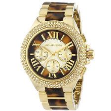 Michael Kors MK5901 Gold Tone Camille Chronograph Tortoise Shell Wrist Watch