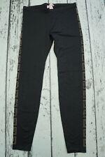 USED Versace For H&M Black Monogram Logo Embellished Leggings EUR 38 US 8