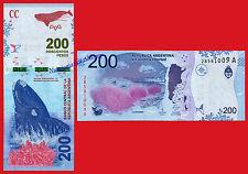ARGENTINA 200 Pesos 2016 Whale Serie A Pick NEW  SC / UNC