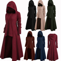 Chic Womens Plus Size High Low Hooded Sweater Long Sleeve Pullover Knitwear US