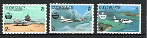 Caicos Islands 1985 Cilvil Aviation Organization  Anniversary set MNH
