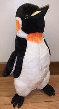 """Melissa & Doug Lifesize Penguin Plush 24"""" Large Black White Stands Alone"""