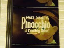 WALT DISNEY'S PINOCCHIO 35mm 1970s RE-RELEASE FILM TRAILER TEASER GREAT COLORS!