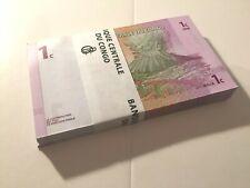 (#1234/5) Congo bundle with 100 banknotes 1 Centime 1997, P.80_UNC