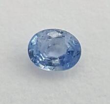 Echter oval facettierter Saphir aus Sri Lanka ( 0,62 Carat ) 6,0 x 4,8 mm