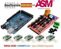RAMPS 1.4 Control Panel + Mega 2560 R3 + 5pcs A4988 Stepper Drive