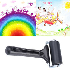 Black Soft Rubber Brayer Roller Paint Brush Ink Applicator for Painting Printing