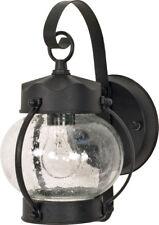 "Nuvo 1 Light 11"" Wall Lantern Onion Lantern with Clear Seed Glass"