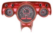 1957 Chevy Bel Air 210 Carbon Fiber & Red Dakota Digital VHX Analog Gauge Kit