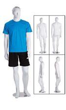 Full Body Male Mannequin Metal Base Retail Clothing Display Fiberglass
