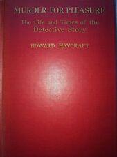MURDER FOR PLEASURE BY HOWARD HAYCRAFT *SIGNED**