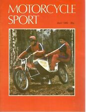 1980 APRIL 31116  Motorcycle Sport Magazine Cover Picture  M ROBERTS