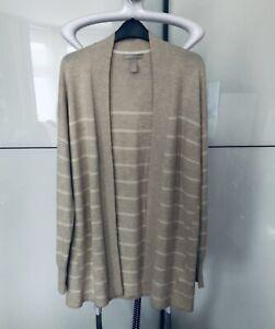 Banana Republic Merino Wool Cardigan Sweater Long Beige, Size L