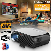 8000 Lumen DLP Android Home Theater Projector HD 1080P 3D Cinema Wifi HDMI  !
