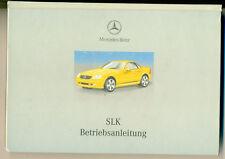 Betriebsanleitung Handbuch Mercedes SLK 200 / 230 Kompressor + 320 von 03/2000