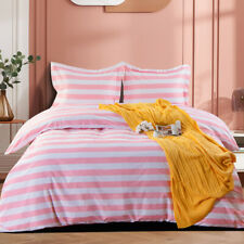 New ListingTwin Queen King Duvet Cover Set Classic Fashionable Stripes Cover For Comforter