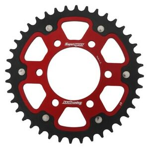 Supersprox Motorcycle 520 Rear Stealth Dual Sprocket 49T Red RST-1512-49-RED