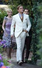 The Great Gatsby Dress White Suit for Groom Men Wedding Tuxedo Suits Custom