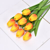 1 Branch Tulips Flowers Wedding Bouquet Home Party Decor Floral Various Colors