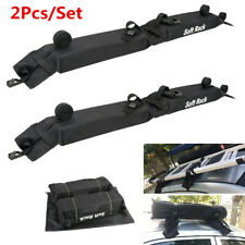2Pcs Oxford Car Roof Top Carrier Soft Rack Luggage Cargo Rack Travel Accessories