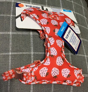 TOP PAW Adjustable Fashion Comfort Harness Strawberry's SMALL NEW