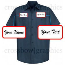 DICKIES Mens CUSTOM SCRIPT Short Sleeve Work Shirt Classic Workwear Uniform S-5X